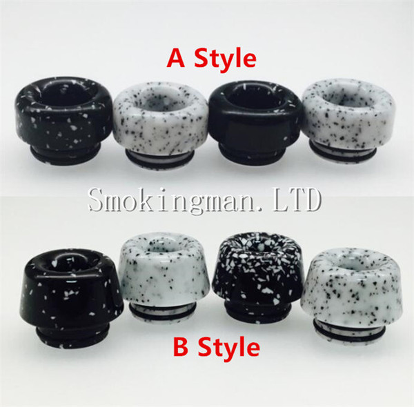 2018 NEW 810 Marble Black and White Mushrooms Drip Tip For TFV8/TFV8 BIG BABY/TFV8 X BABY/TFV12 Atomizer VS Baby With Package