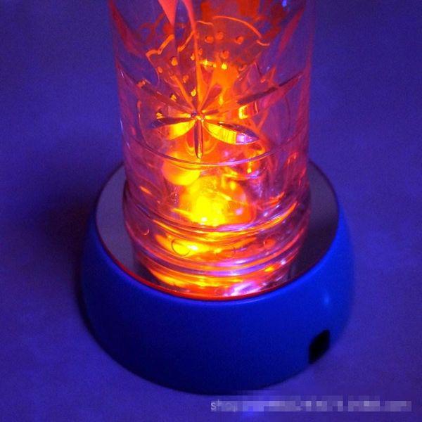 New Water Pipe Led Lamp Holder Glass Bong Lamp Holder Three Colors Cross