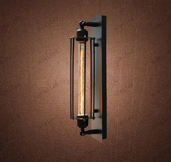 Acheter Nimi504 Designer Européen Lampe Américain Rétro Loft Grand Applique  Caged Alcatraz Applique Murale En Fer Pour Hall D\'entrée Balcon Allée ...