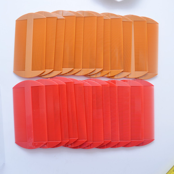 best selling Plastic Two Side Hair Combs Red Yellow Color Lice Comb Women Hair Caring Tools 11*5.5cm