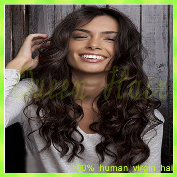 Top Grade 7A Brazilian Glueless Full lace Human Hair Wigs Brazilian Virgin Hair Body Wave Lace Front Wig for Black Women