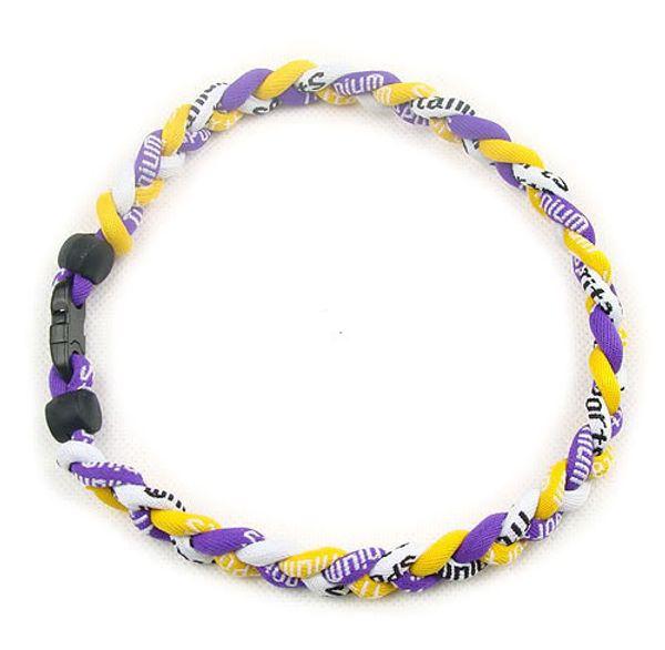 2016 Titan geflochtenes Seil Halskette Tornado Geflochten SPORTS Football Baseball New Statement Choker Halskette gesunde Mode Körperschmuck