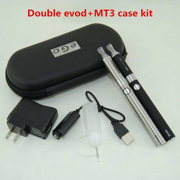 Double EVOD MT3 vape pens Starter kit with ecigarette MT3 Vaporizer Atomizer Clearomizer tank vs ugo eGo T vision spinner twist Battery kits