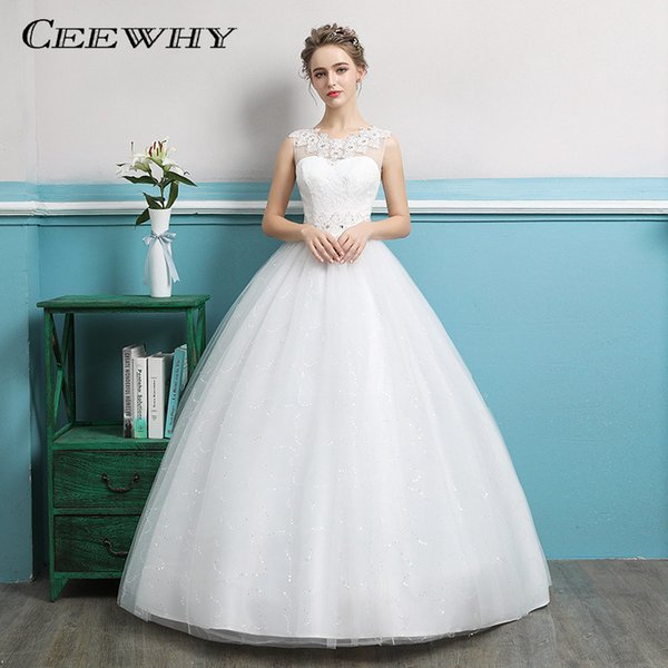 Ceewhy Gorgeous Ball Gown Wedding Dress With Lace Vestido De Novia ...