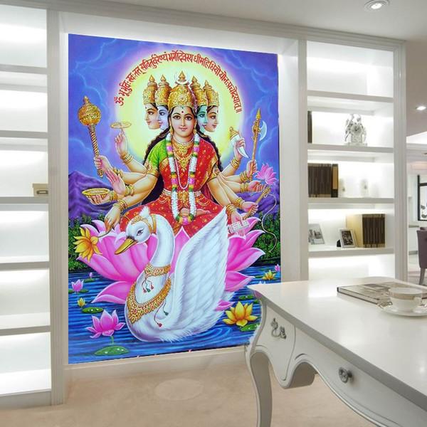 3d Stereo Custom Southeast Asia Thailand India Yoga Bedroom Mural ...