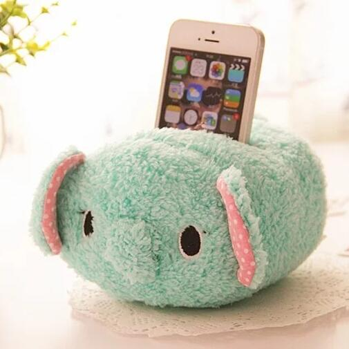 Cute Lovely Cartoon Kawaii Plush Stand for Mobile Cell Phone iPhone 6 5 5s 5c se iPod touch Desktop Office Holder