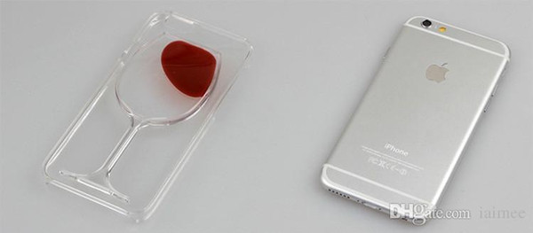 3D Red Wine Cup magic Crystal clear transparant plastic Flowing Cover For Apple iPhone 5s 6 6Plus Phone Cases