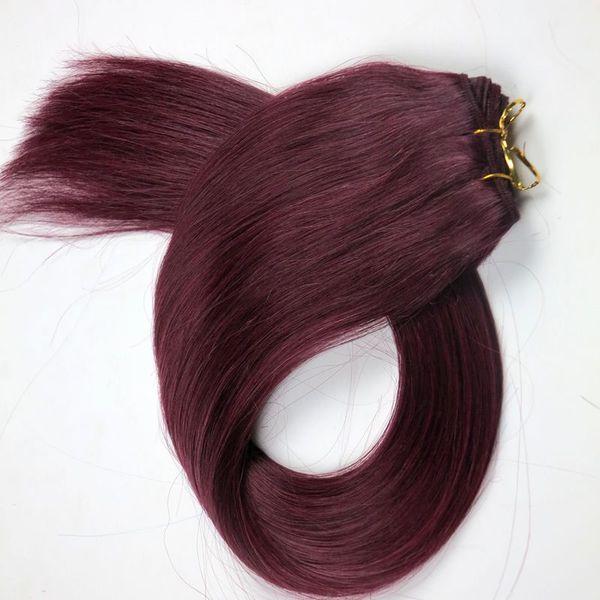 Brazilian hair Human Hair wefts straight hair bundles 22inch 530#/Plum Red Brazilian Indian Human hair Extensions