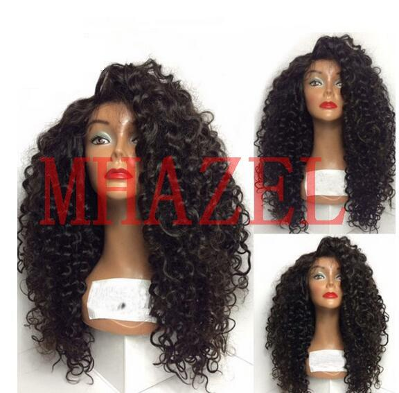 MHAZEL Real Hair Kinky Curly Lace Front Human Hair Wigs For Black Women Brazilian Baby Hair 130%density