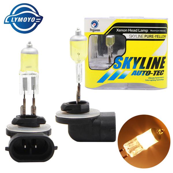 LYMOYO car 881 H27 12V 27W Halogen bulbs Fog Lamps Kit 3000K 4500K white golden yellow HOD Head lamp daytime running light
