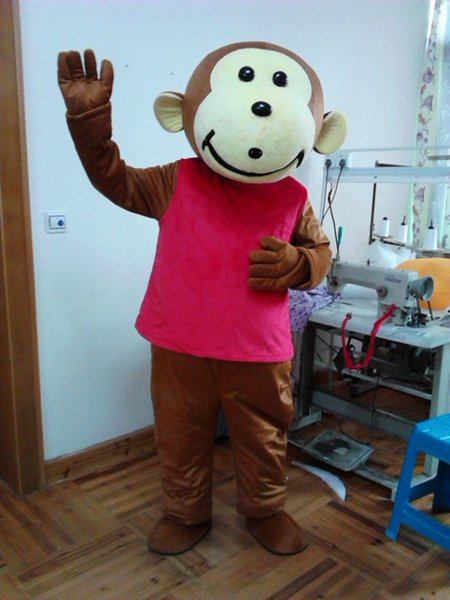 Fast customfast custom monkey mascot costumes cartoon party dress