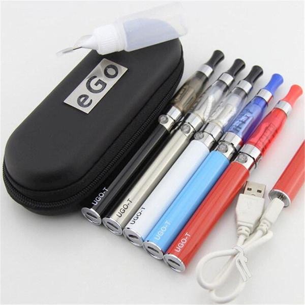 2019 e cigarettes starter kits Micro USB passthrough 510 thread vape UGO-T battery ego CE4 Tank ce5 Atomizer vape pen case ce4 ego kits