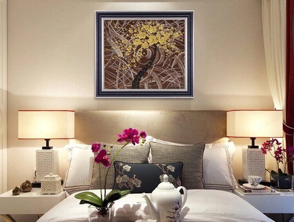 Plum series of high quality modern minimalist living room bedroom study decorative murals high quality color palette thick knife JL257