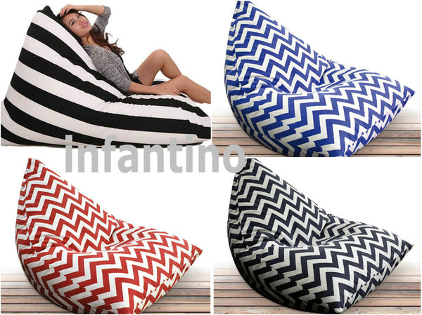 Superb Black Strap Cotton Bean Bag With Back Support Pivot Beanbag Cushion Black And White Strip Triangle Bean Bags Chevron Pivot Beanbag Lounge Canada 2019 Unemploymentrelief Wooden Chair Designs For Living Room Unemploymentrelieforg
