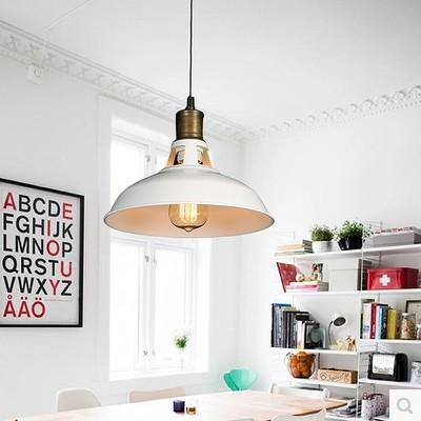 Nordic Loft Iron Retro Droplight Edison Industrial Vintage Pendant Lamp For Dining Room Bar Hanging Light Indoor Lighting