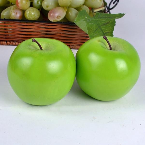 Décor à la maison Grande taille pomme verte simulation artificielle pomme faux Fruits Mariage Party House Décoration accessoires de photographie ornements de maison