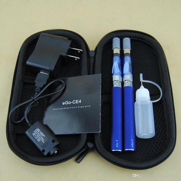 Double eGo-T Starter kit electronic cigarettes CE4 vaporizer atomizer clearomizer 650mah 900mah 1100mah ego T battery ego vape pen dual kits