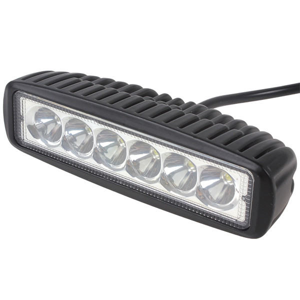 6 Inch 18W LED Work Light Bar for Indicators Motorcycle Driving Offroad Boat Car Tractor Truck 4x4 SUV ATV Spot Flood 12V1550LM Mini 6 Inch