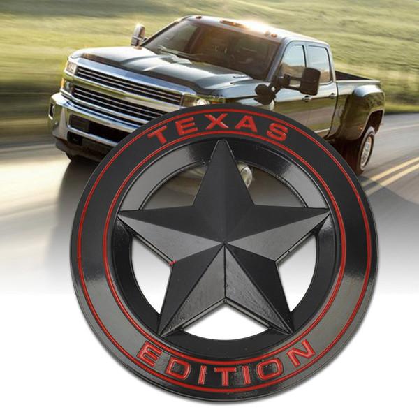 Mayitr Métal TEXAS EDITION Bouclier Étoile Emblème Badge Voiture Fender Côté Queue Corps Autocollant Pour JEEP Wrangler Liberty Grand Cherokee