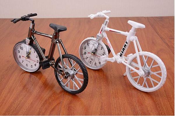 2015 Hot sale Cool Fashion Home Decoration Creative Art Bike Shape Clock Children Kids Bicycle Alarm Clock H019