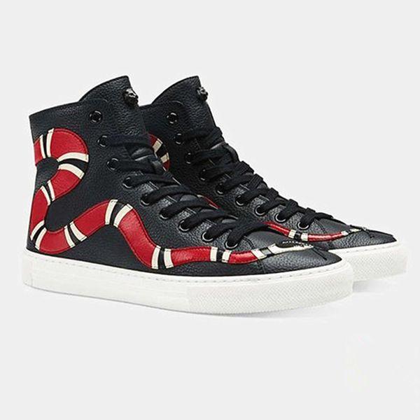 Sıcak Satış erkek Ayakkabıları Hakiki Deri Nakış Flats Loafer Ayakkabı Çiçek Yılan Kalp Dudaklar Siyah Rahat Erkekler ayakkabı