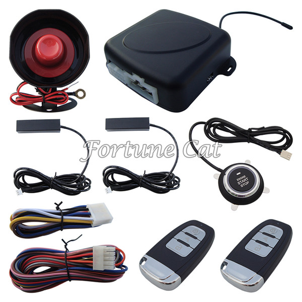 Universal Rolling Code PKE Car Alarm System With Car Engine Start Stop Finger Touch Button Auto Lock & Unlock Auto Arm & Disarm