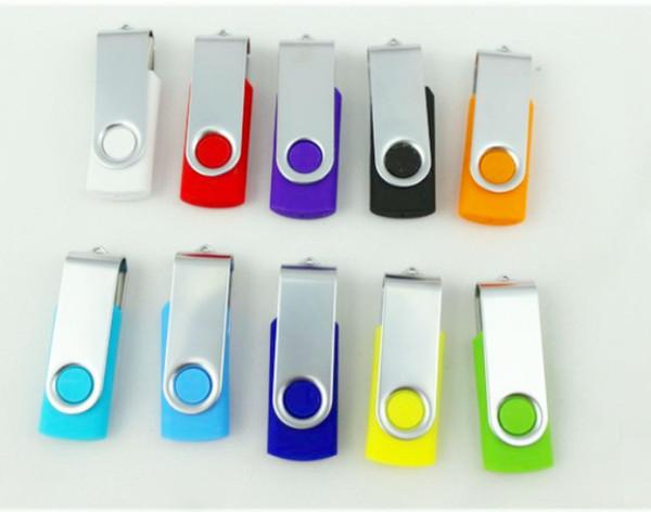 giratorio 32 GB 64 GB 128 GB USB 2.0 Memoria Flash Bolígrafo Unidades Palos Discos Discos Pendrives Unidad de disco