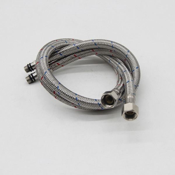 top popular 60cm Stainless Steel Hot and Cold Water hoses for North American MG-1 2019