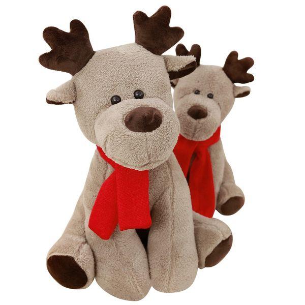 Dorimytrader pop cerfs de Noël en peluche jouets en peluche doux belle anime Rennes décoration poupée 65cm pour enfants Noël présente DY61866