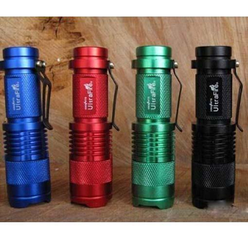 top popular Ultrafire 300LM CREE Q5 3-Mode LED Camping Flashlight Torch Adjustable Focus Zoom waterproof flashlights Lamp(4 color) 2019