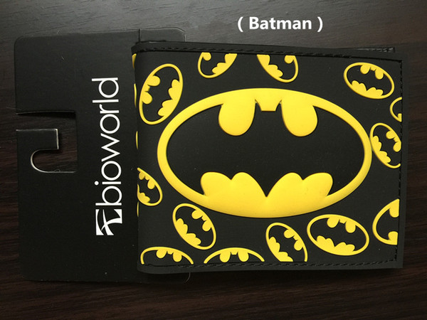 Marvel Batman Wallet DC Comics Purse Creative Cartoon Design Man Short Wallet bank cards bag Coin Purse Change Carteira