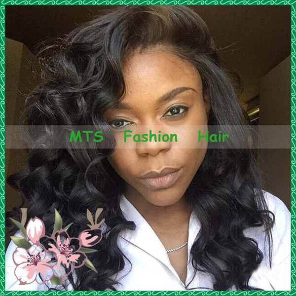 Glueless Full Lace Human Hair Wigs Loose Wave Virgin Peruvian Lace Front Wig Natural Color With Baby Hairs