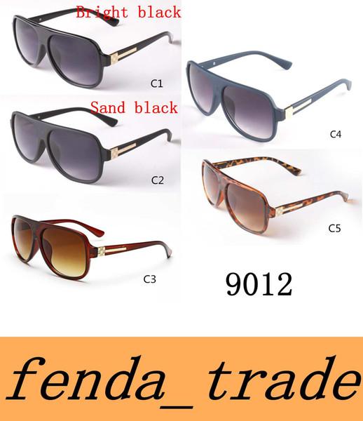 NEUE 2017 Marke Designer Männer Frauen Retro Flat Top Sonnenbrille Vintage Acetat Shaded Linse Dünne Schatten Gläser 9012 hochwertige linse MOQ = 10