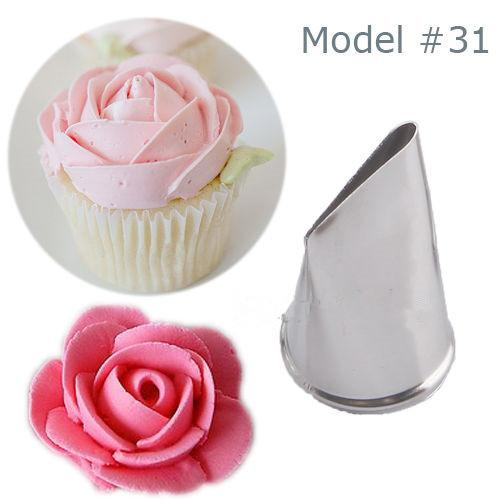 Wholesale- New Fashion Icing Piping Nozzles Cake Cupcake Decorating Pastry Tips Tool #56