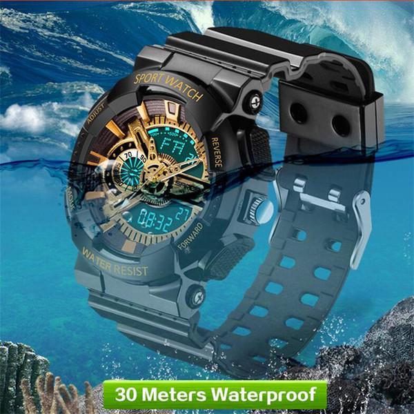 2017 SANDA мода военные часы мужчины водонепроницаемый мужские светодиодные часы лучший бренд роскошные спортивные часы relojes hombre relogio masculino