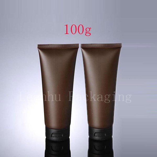 100g X 50 Empty Brown Soft Tube For Cosmetic Packaging 100ML Lotion Cream Plastic Bottle Skin Care Cream squeeze Containers Tube