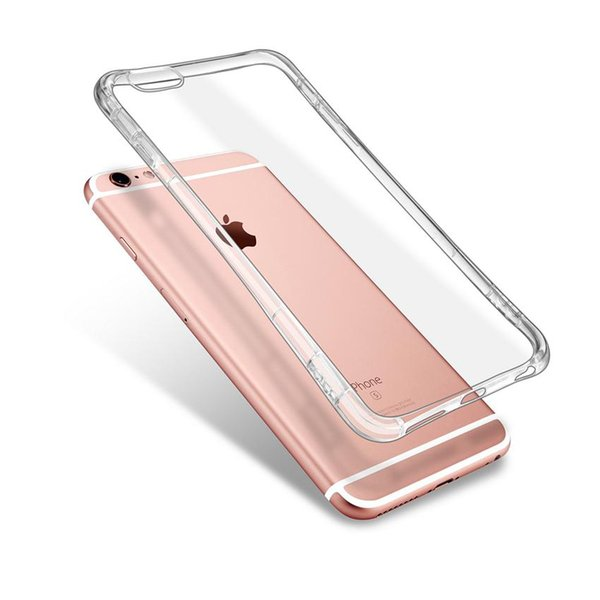 Soft Clear single Color Case for iPhone X 8 7 6 /Plus 4.7inch 5.5inch Transparent Silicon Gel Case Shockproof High Quality