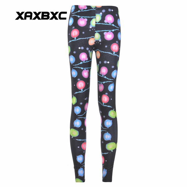 4dbb0acf2c887 2017 NEW 3380 Halloween Christmas neon Fairy Light Prints Sexy Girl Pencil  Yoga Pants GYM Fitness Workout Polyester Women Leggings Plus Size