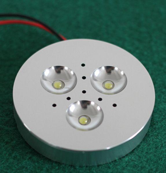 Diodo emissor de luz de 3x3W Dimmable sob a luz do disco da luz do armário para a superfície da iluminação da cozinha morno / branco fresco