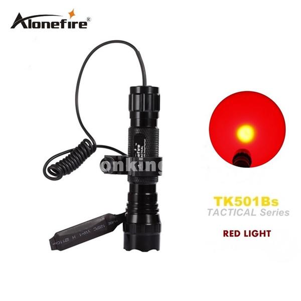 501B Tactical Flashlight led Hunting Torch Spotlight Shotgun lighting +Tactical mount+Remote switch