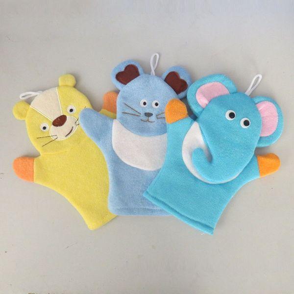 top popular 50pcs Baby Sponge Bath Rub Mitt Kids Child Bath Brush Animals Shape Bushtub Glove Hand Puppets And Bath Towel Bathroom 2019
