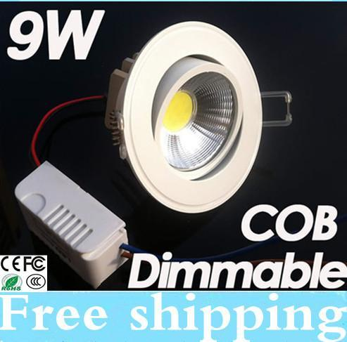 New Arrival Dimmable 9W COB Led Fixture Ceiling Downlight 110-240V High Quality Led Down Light Pure/Warm White CE&ROHS FCC