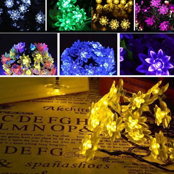 Wholesale 5m led solar power fairy double layer lotus string lights wholesale 5m 20pcs led solar power fairy double layer lotus string lights outdoor wedding aloadofball Gallery
