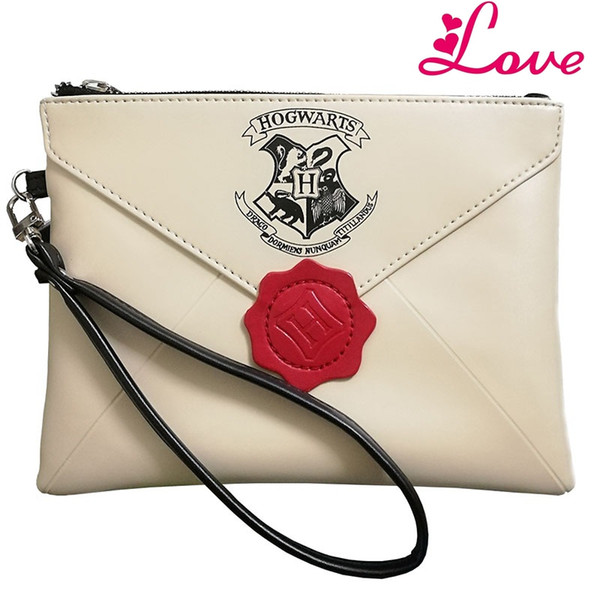 Lucia's New Harry Potter Letter From Hogwarts Wallet Woman Wristbands Hand Bag Female Zipper Clutch Party Purse Phone Bags