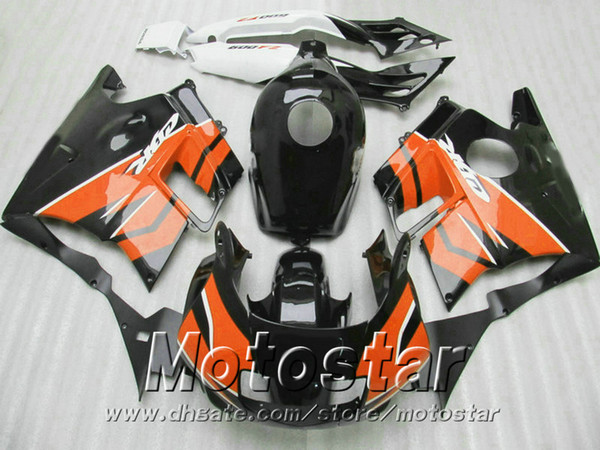 New! Full fairing kit for HONDA CBR 600 F2 1991 1992 1993 1994 black orange fairings set CBR600 91 - 94 aftermarket RF87
