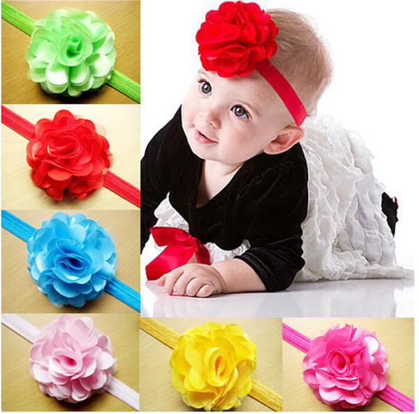 Sale Net yarn flower hair ribbon baby headband,girls hair accessories,fashion cheap jewelry,charm princess headwear jewellery.26pcs.QF