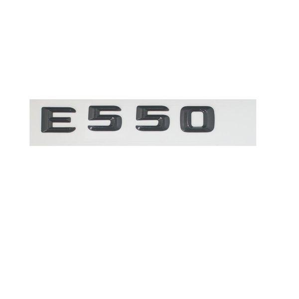 Gloss Black E 550 Letters Trunk Emblem Badge Sticker for Mercedes Benz E550