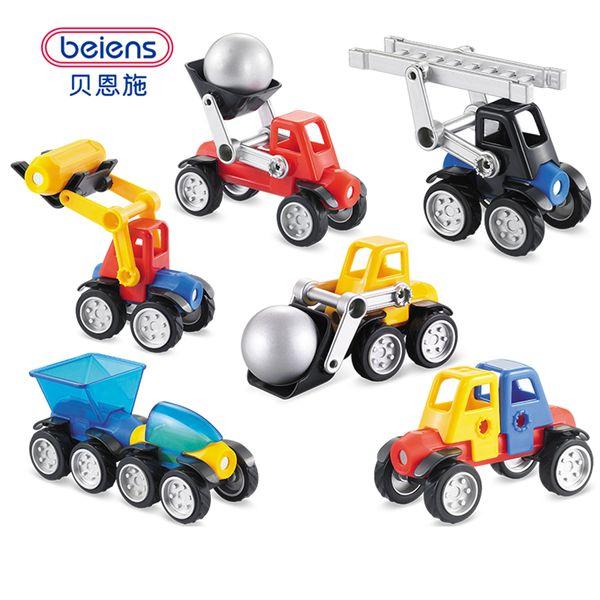 Beiens 39pcs Magnetic Designer Construction Set Modelo Edificio de juguete de plástico Bloques magnéticos juguetes educativos para niños regalo