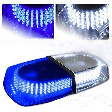 240 LED Light Bar Roof Top Emergency Hazard Warning Flash Strobe Blue & White