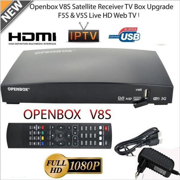 OPENBOX V8S Full HD 1080P Satellite Receiver Freesat TV Box EU-Plug HOT